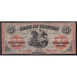 1861 Bank of Clifton $5
