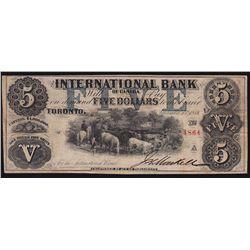 1858 International Bank of Canada $5