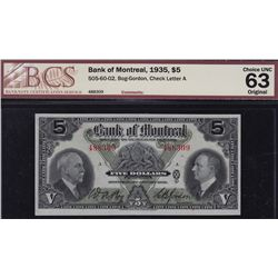 1935 Bank of Montreal $5