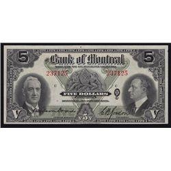 1938 Bank of Montreal $5