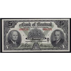 1942 Bank of Montreal $5