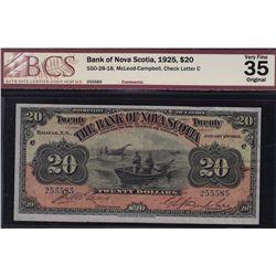 1925 Bank of Nova Scotia $20