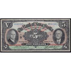 1929 Bank of Nova Scotia $5