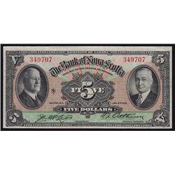1935 Bank of Nova Scotia $5
