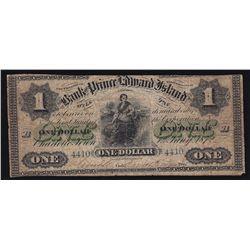 1872 Bank of Prince Edward Island $1