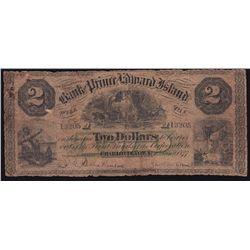 1877 Bank of Prince Edward Island $2