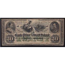 1872 Bank of Prince Edward Island $20