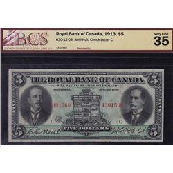1913 Royal Bank of Canada $5