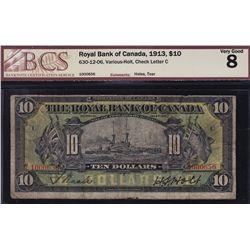 1913 Royal Bank of Canada $10