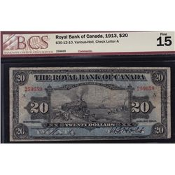 1913 Royal Bank of Canada $20