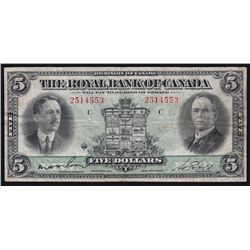 1927 Royal Bank of Canada $5