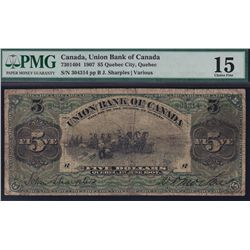 1907 Union Bank of Canada $5