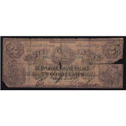 1875 Union Bank of Prince Edward Island $2