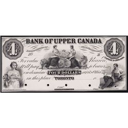 18_ Bank of Upper Canada $4 Face Proof