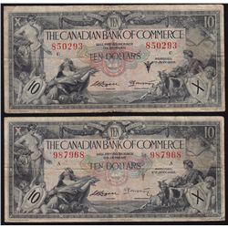 Lot of Five Chartered Bank Notes
