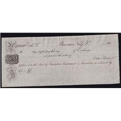 1801-12 Placentia, Newfoundland Bill of Exchange