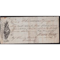Shannon, Livingston & Co. Bill of Exchange