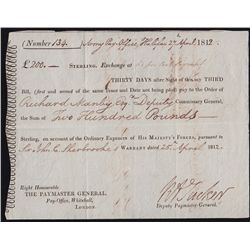 Early Canadian Historical Documents - Army Bills