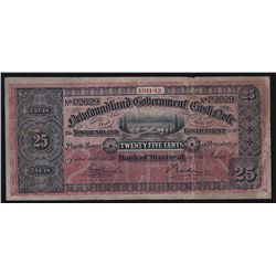 1911-12 Newfoundland Government 25 Cents Cash Note