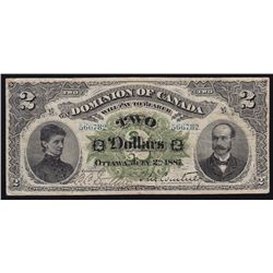 1887 Dominion of Canada $2