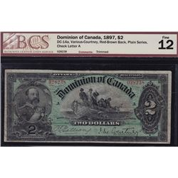 1897 Dominion of Canada $2 Red-Brown Back