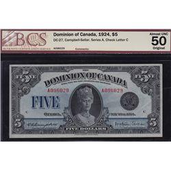 1924 Dominion of Canada $5