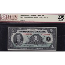 1935 Bank of Canada $1 French