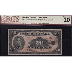 1935 Bank of Canada $50