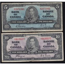 Lot of Four 1937 Bank of Canada