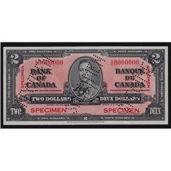 1937 Bank of Canada $2 Specimen