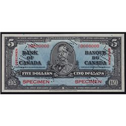 1937 Bank of Canada $5 Specimen