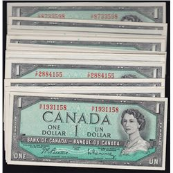 Lot of 1954 Bank of Canada Notes