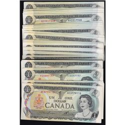 Lot of 1973 Bank of Canada $1