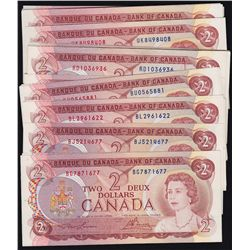 Lot of Multi-colored Bank of Canada Notes