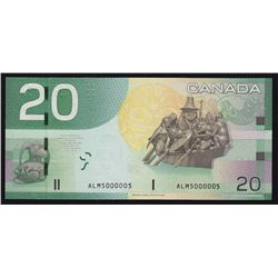 2004 Bank of Canada $20 Two Digit Radar