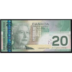 2004 Bank of Canada $20 Error