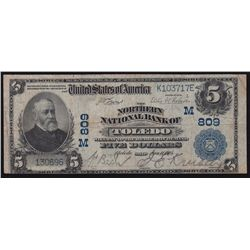 1905 United States of America National Currency $5
