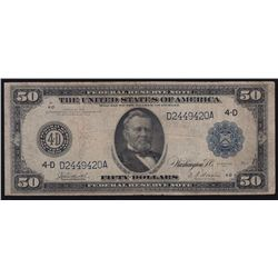 1914 United States of America Federal Reserve $50