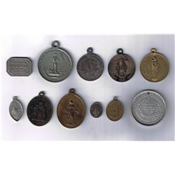 Lot of Eleven Religious Medals