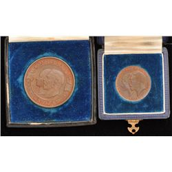 Two Bronze Jubilee Educational medals 1867-1927
