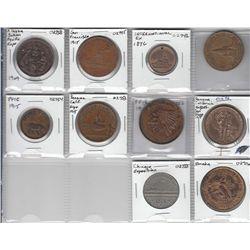 Lot of ten USA Exposition Souvenir Pieces.