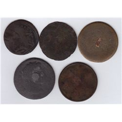 Lot of 5 Blacksmith Type Tokens