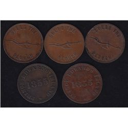 Lot of 5 Prince Edward Island Tokens