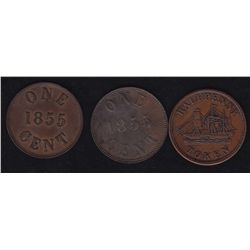 Lot of 3 Prince Edward Island Tokens