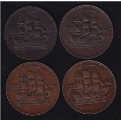 Lot of 4 Prince Edward Island Tokens