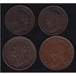 Lot of 4 Nova Scotia Tokens