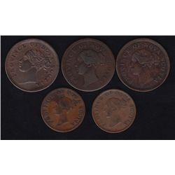 Lot of 5 Nova Scotia Tokens