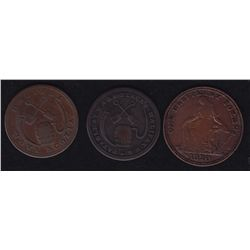 Lot of 3 Nova Scotia Tokens