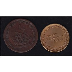 Lot of 2 Nova Scotia Tokens