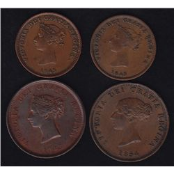 Lot of 4 New Brunswick Tokens